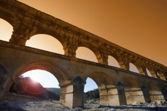 The Pont du Gard aqueduct is as old as the Christian religion.