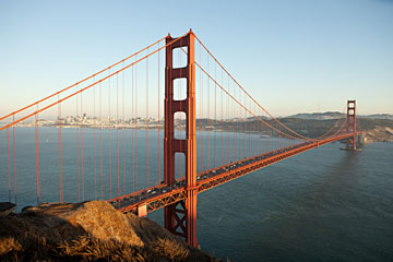 San Francisco's Golden Gate Bridge stands as a classic example of a suspension bridge.